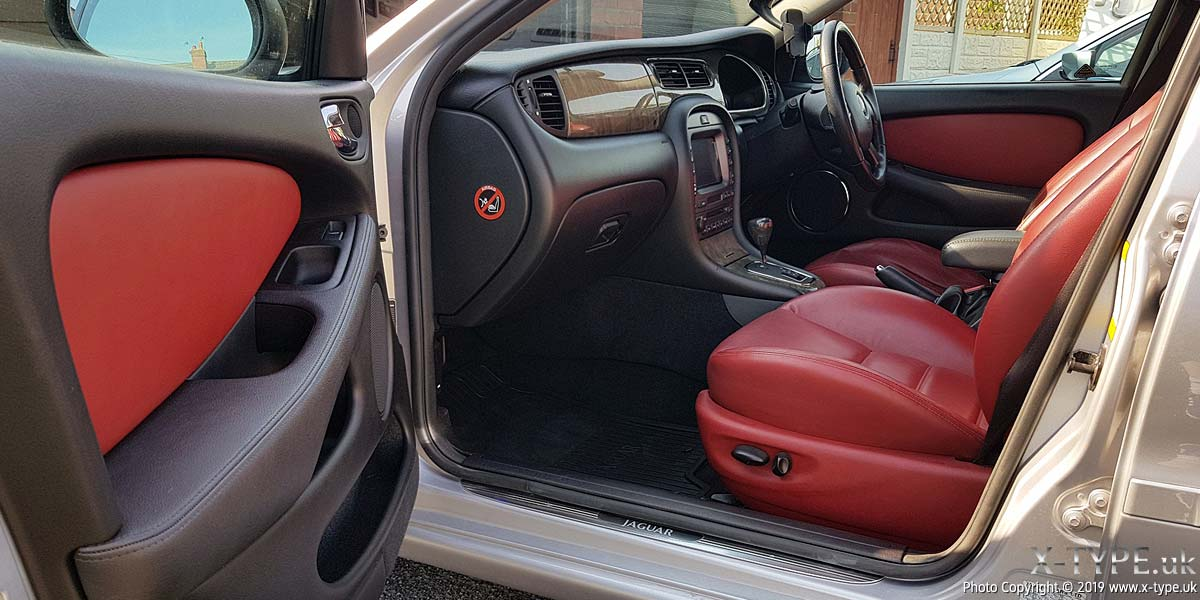 Cranberry sports leather interior